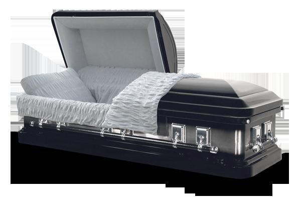 Ebony casket dejohn funeral homes crematory for Black casket with red interior