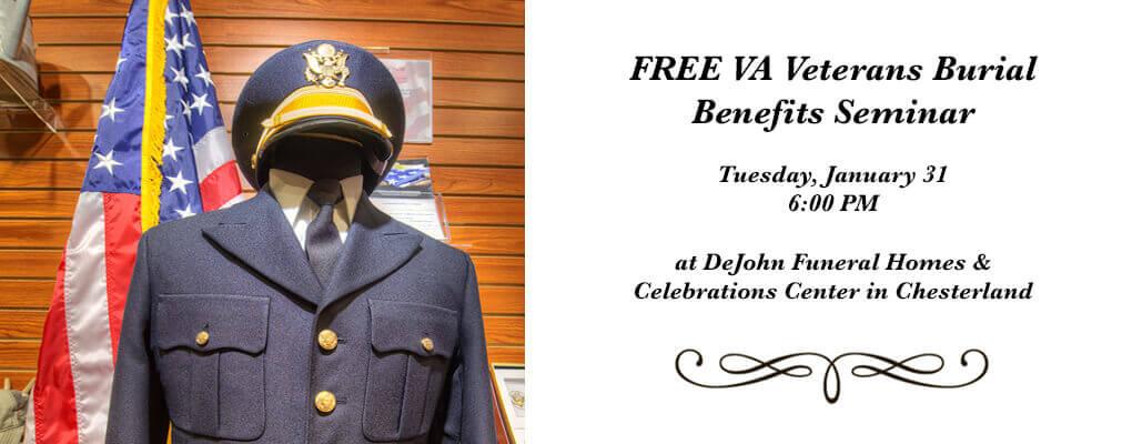 FREE Veterans VA Burial Benefits Seminar - DeJohn Funeral