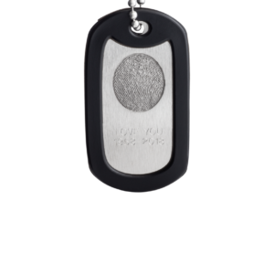 Front EngravedDogTag Fingerprint 1