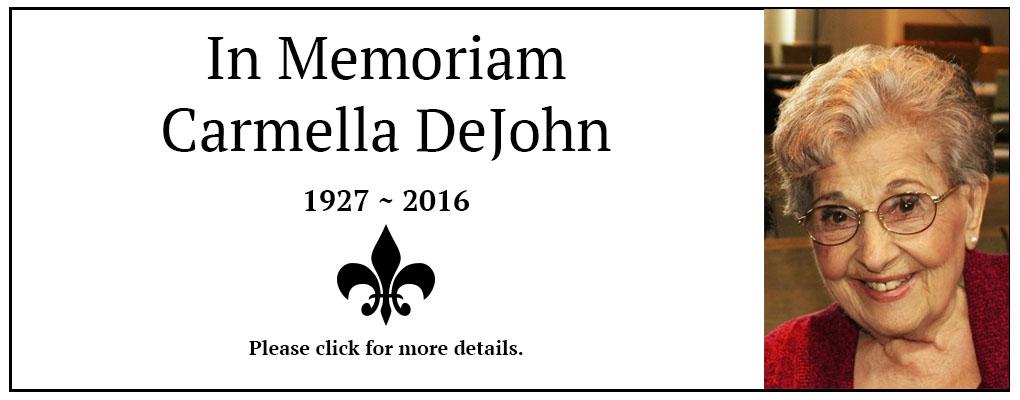 In Loving Memory Carmella DeJohn