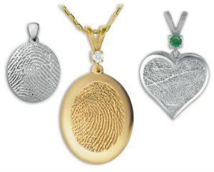 Fingerprint Keepsake Jewelry