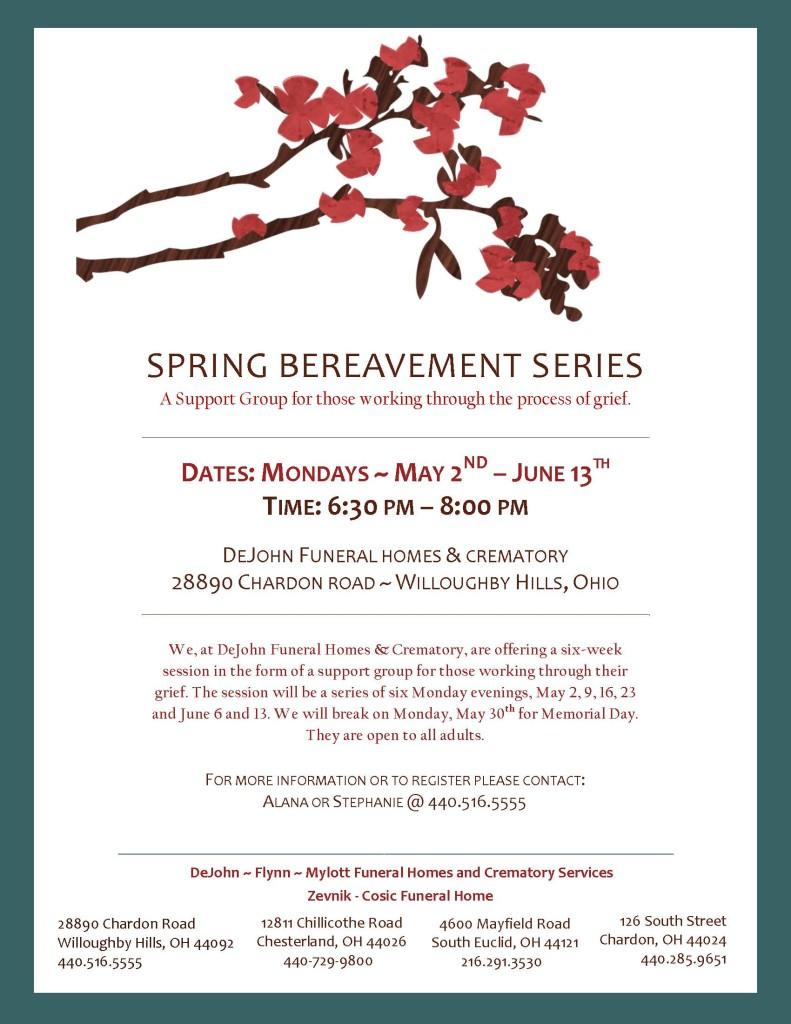 spring bereavement series flyer 2016 pdf