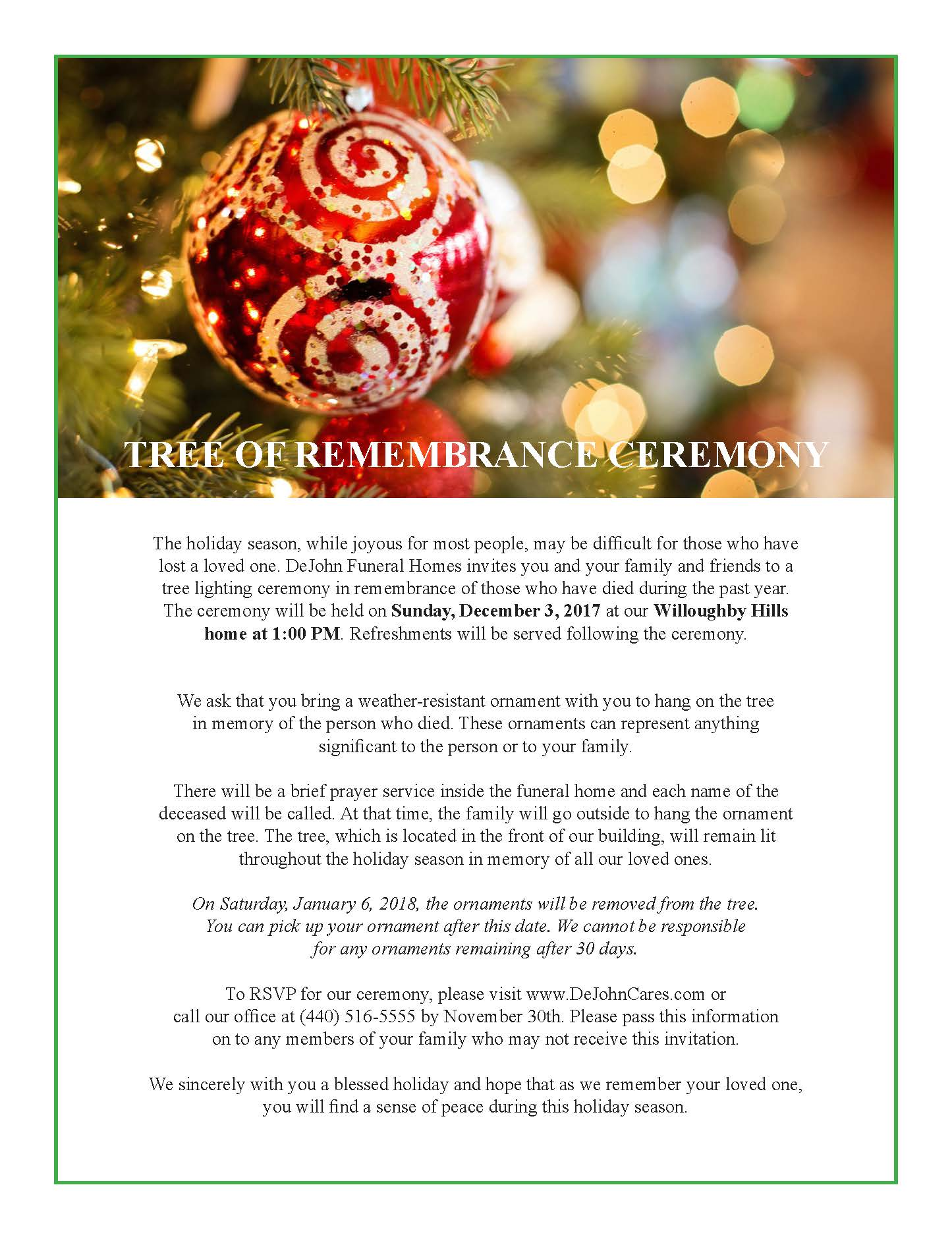 tree of remembrance - Christmas Decorations In Memory Of A Loved One