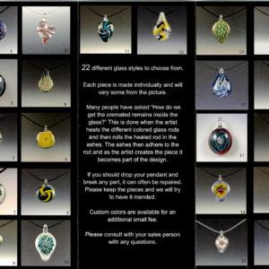 glass cremain stone designs