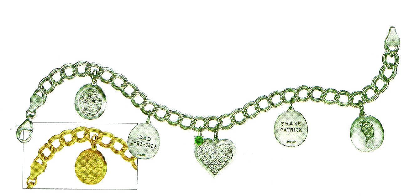Double Link Charm Bracelet Dejohn Funeral Homes Crematory